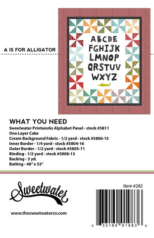 A Is For Alligator Quilt Pattern by Sweetwater