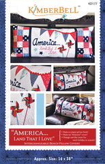 America Land That I Love Pillow Pattern by Kimberbell Designs