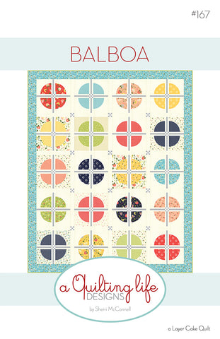 Balboa Quilt Pattern by Sherri McConnell of A Quilting Life Designs