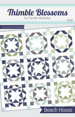 Beach House Quilt Pattern by Thimble Blossoms for Moda Fabrics.