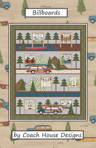 Billboards Quilt Pattern by Barbara Cherniwchan for Coach House Designs