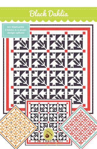 Black Dahlia Quilt Pattern by Joanna Figueroa of Fig Tree & Co.