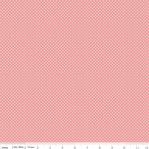 Kisses Coral Yardage by Riley Blake Designs