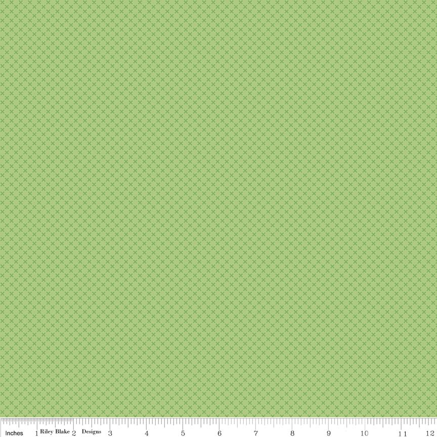 Kisses Green Yardage by Riley Blake Designs