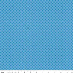 Kisses Medium Blue Yardage by Riley Blake Designs