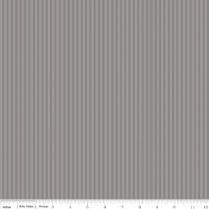 "Stripe 1/8"" Gray Tone on Tone Yardage by Riley Blake Designs"