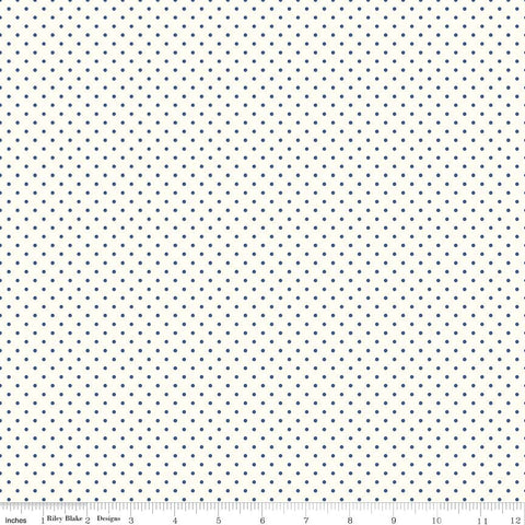 Le Creme Dots Navy Yardage by Riley Blake Designs