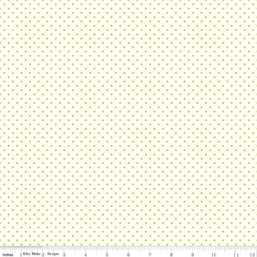 Le Creme Dots Lime Yardage by Riley Blake Designs