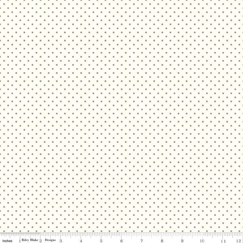 Le Creme Dots Gray Yardage by Riley Blake Designs