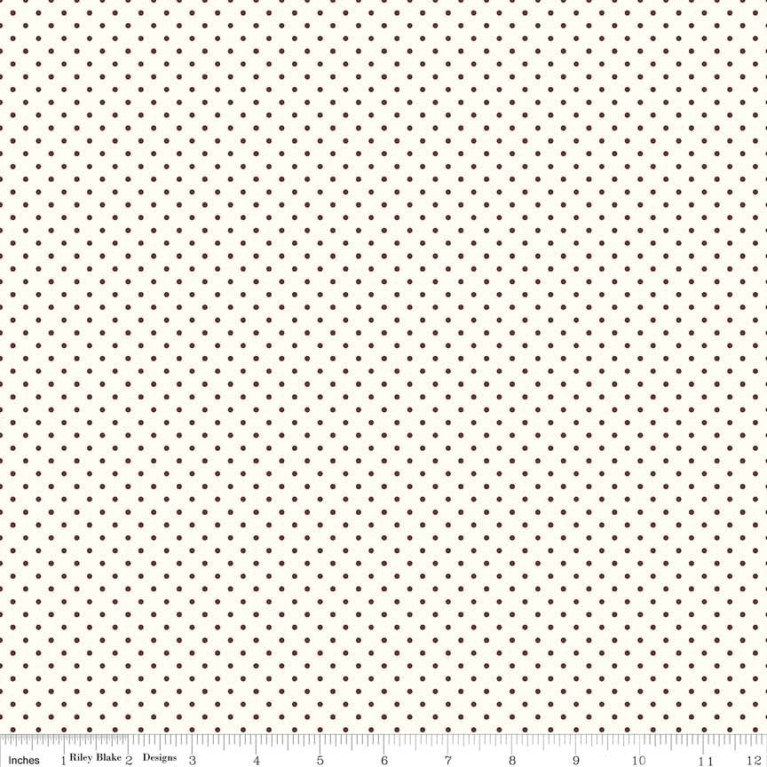 Le Creme Dots Brown Yardage by Riley Blake Designs