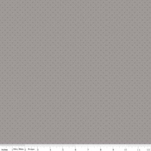 Swiss Dot Tone on Tone Gray Yardage by Riley Blake Designs