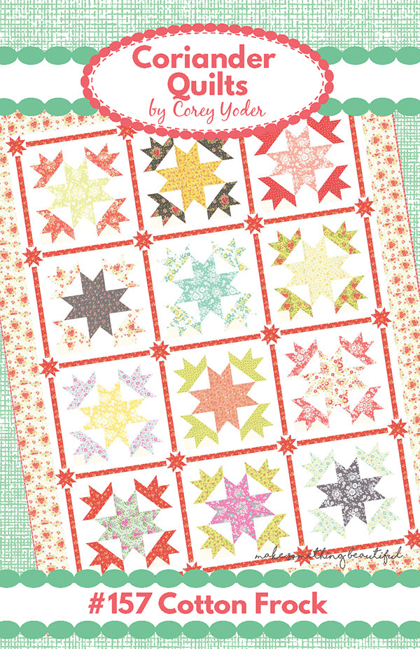Cotton Frock Quilt Pattern by Corey Yoder of Coriander Quilts