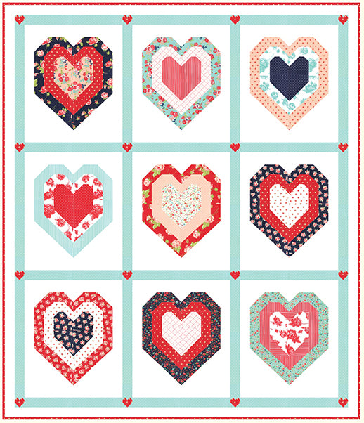 Be Mine Quilt Kit featuring Smitten by Bonnie & Camille
