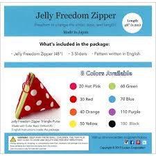 "48"" Jelly Freedom Zipper by Lecien (multiple colors)"