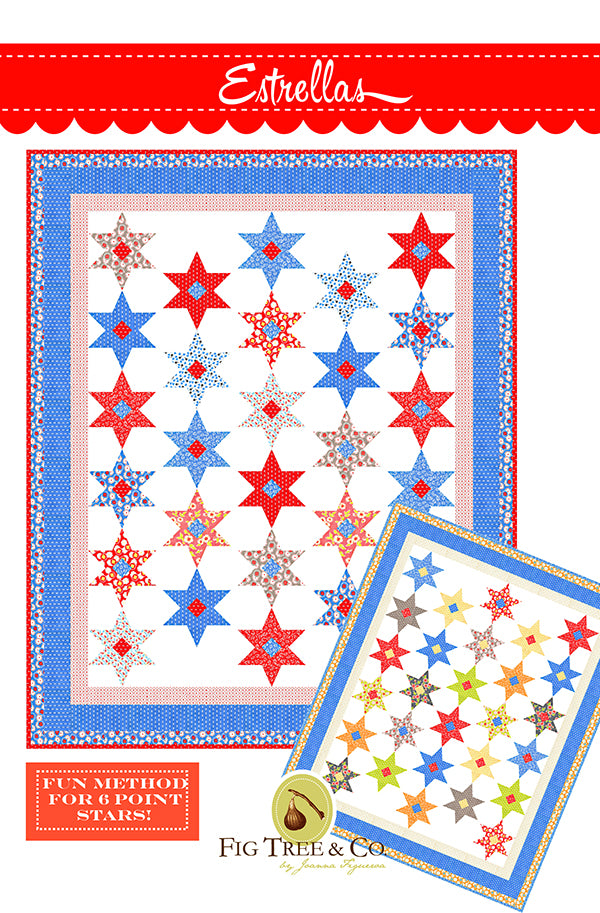 Estrellas Quilt Pattern by Fig Tree Quilts