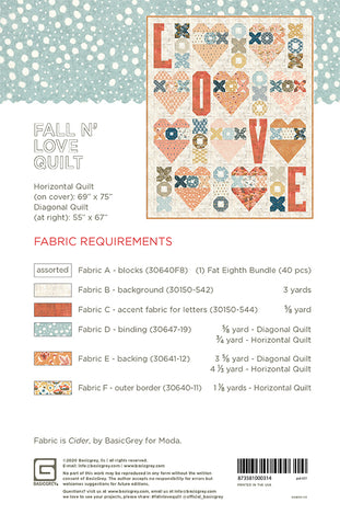 Fall N' Love Quilt Pattern by Basic Grey for Moda Fabrics