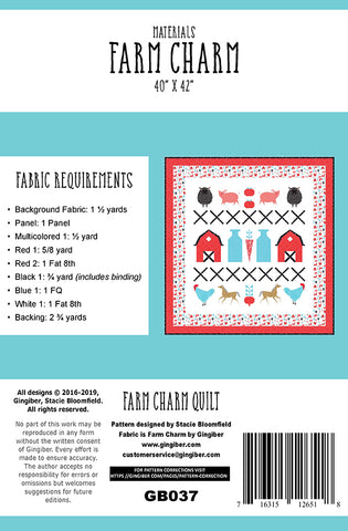 Farm Charm Quilt Pattern by Gingiber
