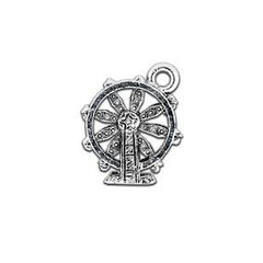 Ferris Wheel Zipper Pull or Sewing Charm