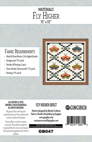 Fly Higher Quilt Pattern by Gingiber