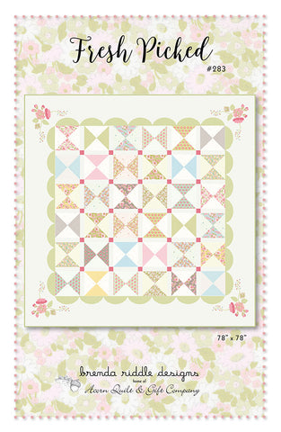 Fresh Picked Quilt Pattern by Brenda Riddle Designs