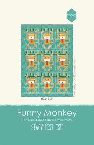 Funny Monkey Quilt Pattern by Stacy Iest Hsu