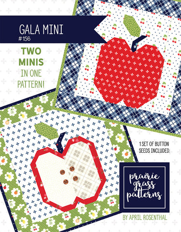 Gala Mini Quilt Pattern by April Rosenthal for Prairie Grass Patterns