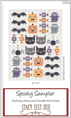 Spooky Sampler Quilt Pattern by Stacy Iest Hsu