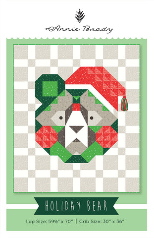 Holiday Bear Quilt Pattern by Annie Brady