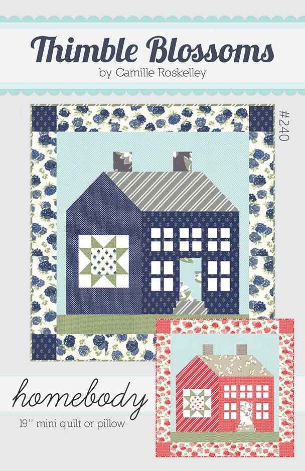 Homebody Mini Quilt Pattern by Thimble Blossoms for Moda Fabrics.