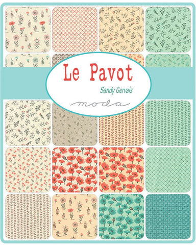 Le Pavot Jelly Roll by Sandy Gervais for Moda Fabrics