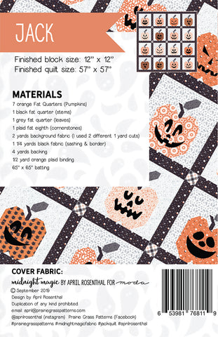 Jack Quilt Pattern by Prairie Grass Patterns