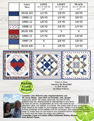 Love Light & Peace Quilt Pattern by Lavender Lime