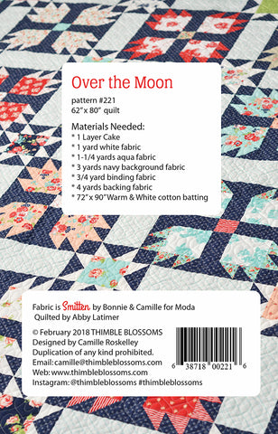 Over The Moon Quilt Pattern by Camille Roskelley for Thimble Blossoms.