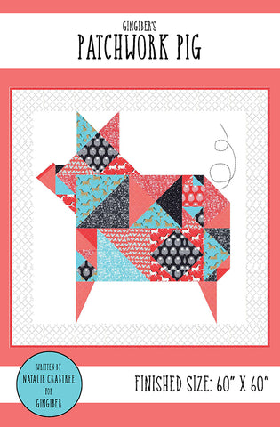 Patchwork Pig Quilt Pattern by Gingiber