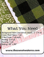 Plaid Tidings Quilt Pattern by Sweetwater