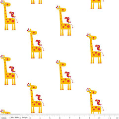 Double Gauze Yellow Giraffe by Riley Blake Designs