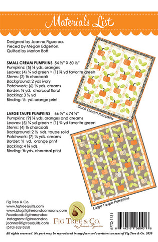 Pumpkin Farm Quilt Pattern by Fig Tree & Co