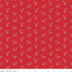 Bee Basics Red Heart Yardage by Lori Holt for Riley Blake Designs