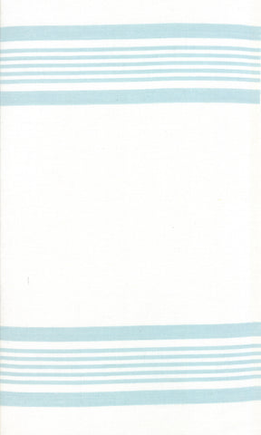 Rock Pool Toweling Seaglass Aqua Stripe yardage by Pieces to Treasure for Moda Fabrics