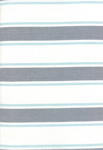 Rock Pool Toweling Seaglass Grey Stripe yardage by Pieces to Treasure for Moda Fabrics