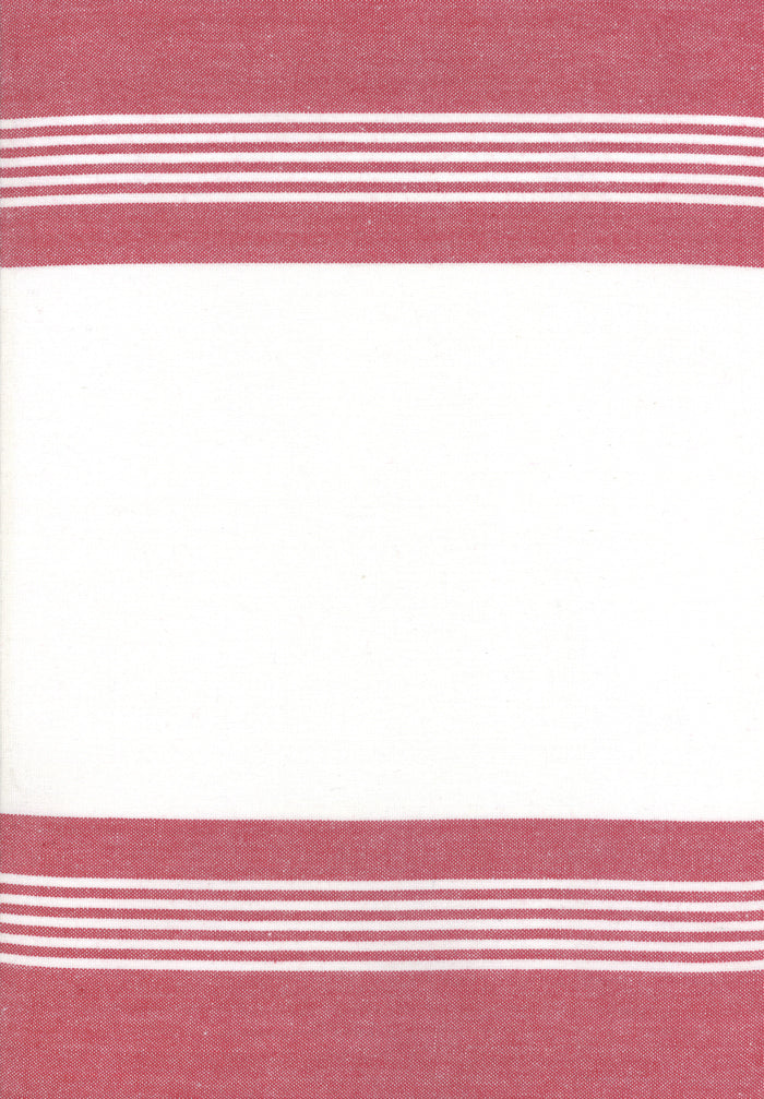 Rock Pool Toweling Anemone Red  Stripe yardage by Pieces to Treasure for Moda Fabrics