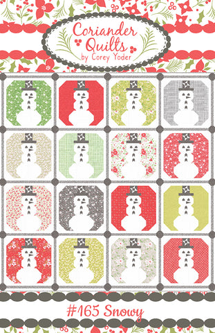 Snowy Quilt Pattern by Coriander Quilts