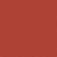 Country Confetti Red Speckled Hen Yardage by Lori Woods for Poppie Cotton Fabrics