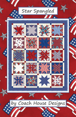 Star Spangled Quilt Pattern by Coach House Designs
