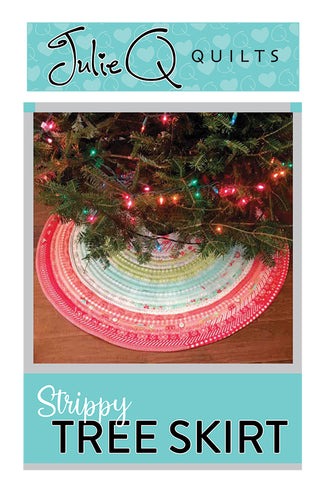 Strippy Tree Skirt Pattern by Julie Q Quilts