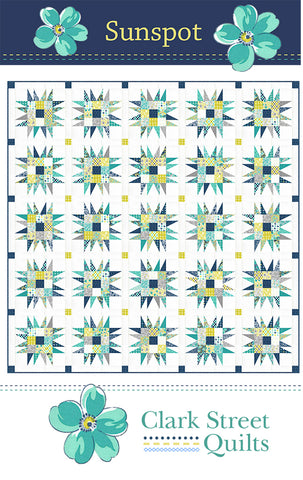 Sunspot Quilt Pattern by Clark Street Quilts
