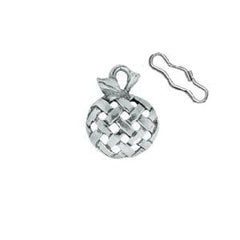 Woven Apple Zipper Pull or Sewing Charm