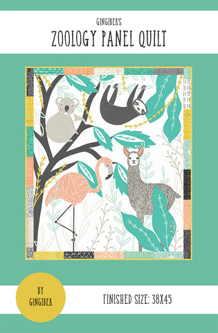 Zoology Panel Quilt Pattern by Gingiber