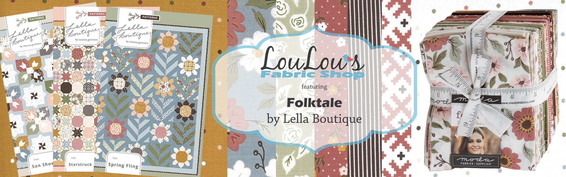 Folktale Fabric Collection by Lella Boutique for Moda Fabrics