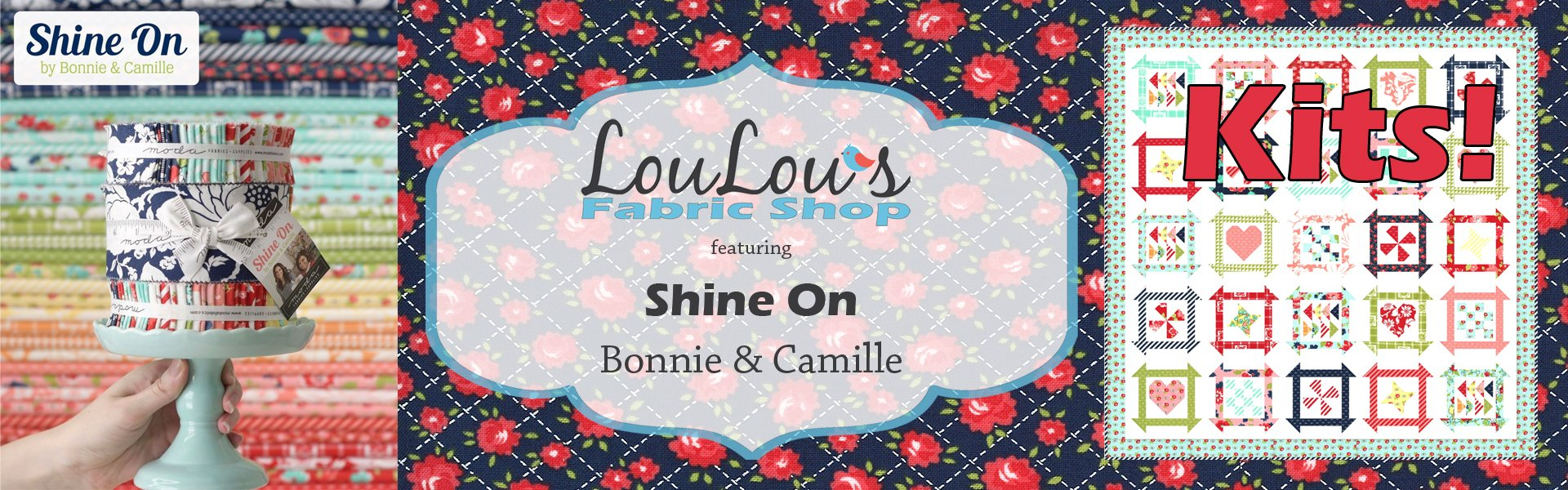 Shine On Fabric Collection by Bonnie & Camille for Moda Fabrics